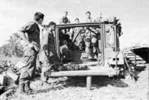 Rear view of M125 being prepared to fire